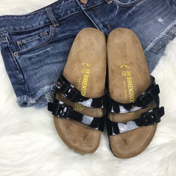 eb18b3089142 Birkenstock Shoes - Birkenstock Ibiza Slide Sandals Black Patent sz 39